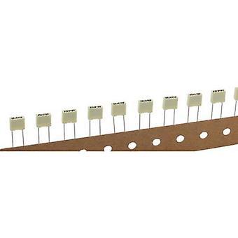 Kemet R82EC2100DQ50K+ PET capacitor Radial lead 10 nF 100 V 10 % 5 mm (L x W x H) 7.2 x 2.5 mm x 6.5 mm 1 pc(s)