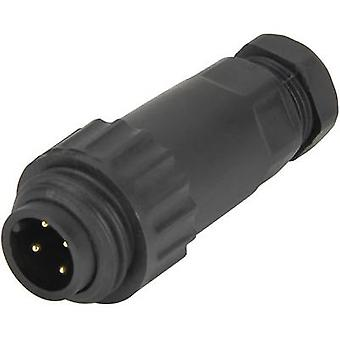 Weipu 814055 Bullet connector Plug, straight Series (connectors): WA Total number of pins: 3 + PE 1 pc(s)