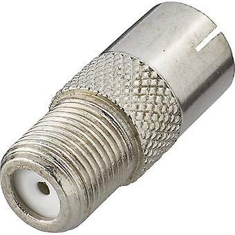 Sat antenna adapter[F socket-Belling-Lee/IEC socket 75Ω] SilverRenkforce
