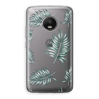 Motorola Moto G5 Transparent Case (Soft) - Simple leaves