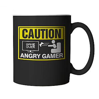 Caution, Angry Gamer, Mug