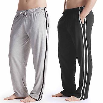 Mens Long Lounge Wear Pants Pyjama Bottoms (Pack of 2)