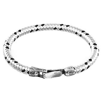 Anchor and Crew Paignton Rope Bracelet - Grey/Silver