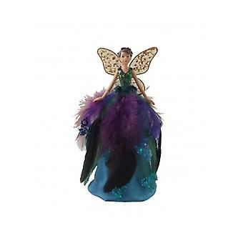 Gisela Graham Peacock Range Fairy Tree Topper