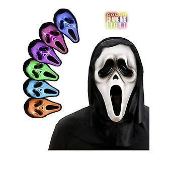 Fantôme à capuchon masque W/multicolore lumière