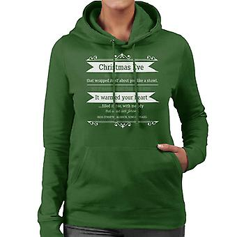 Christmas Eve Quote Song Of Years Quote Women's Hooded Sweatshirt