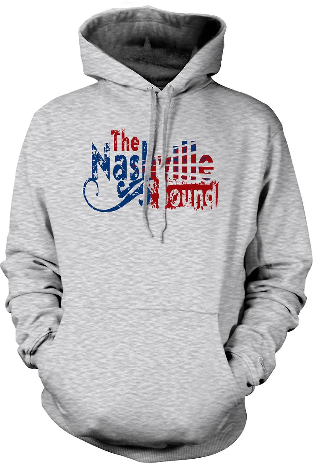 Mens Hoodie - Nashville Sound - Blues Country Music