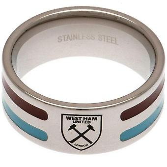 West Ham United FC kleur Stripe Ring