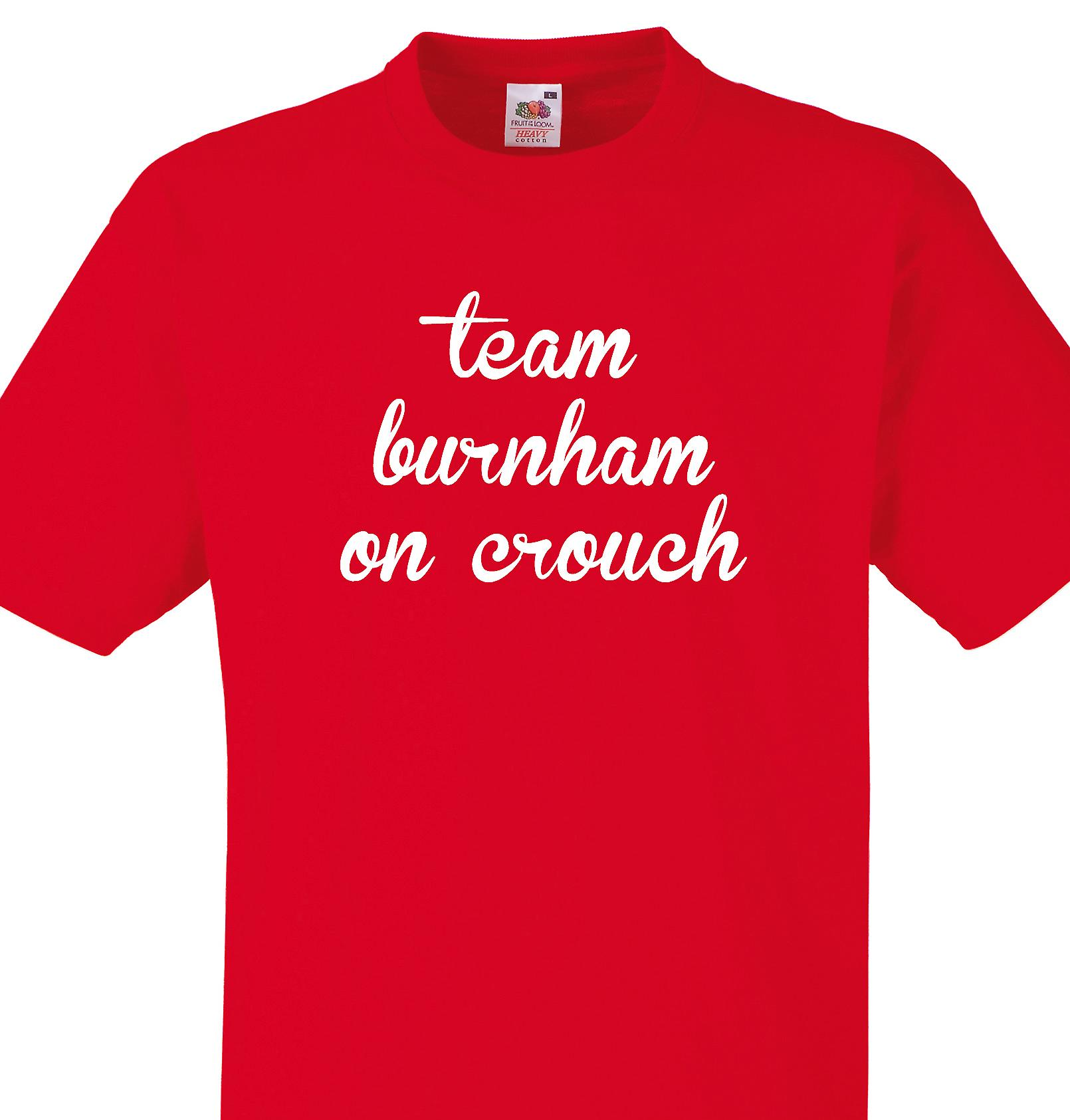 Team Burnham on crouch Red T shirt