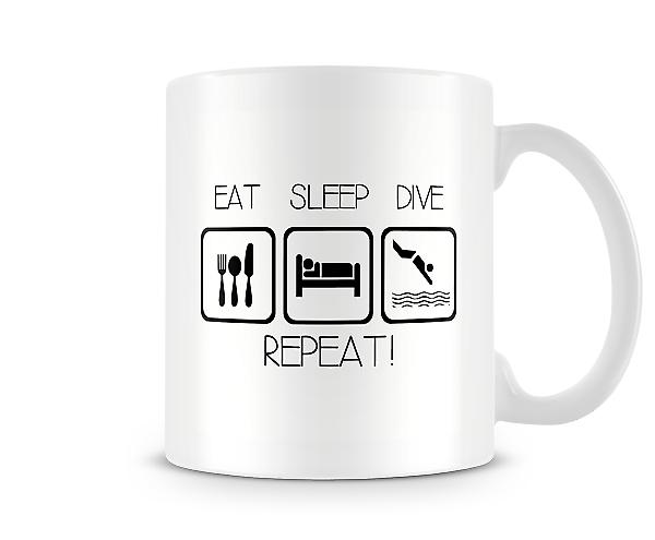 Eat Sleep Dive Repeat Mug