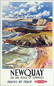 Newquay (old rail ad.) fridge magnet