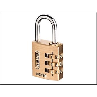 ABUS 165/30 30mm massief messing Body combinatie hangslot (3 cijferig) Carded