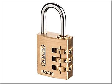 ABUS 165/30 30mm Solid Brass Body Combination Padlock (3 Digit) Carded