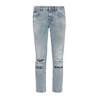 Philipp Plein Light Blue katoen Jeans