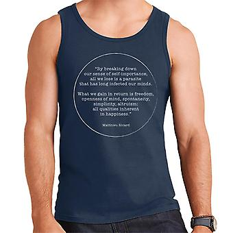 Mindfulness Matthieu Ricard Quote Men's Vest