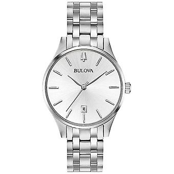 Bulova Women's Stainless Steel Silver Dial Date 96M148 Watch