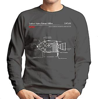 NASA Apollo Befehl Service Module Blueprint Herren Sweatshirt