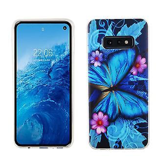 Samsung Galaxy S10e König-Shop Handy-Hülle Schutz-Case Cover Bumper Schmetterling Blau