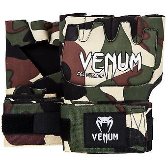 Venum Kontact Gel MMA Neoprene Handwraps - Forest Camo - OSFA