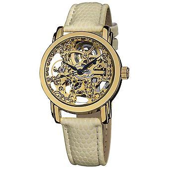 Akribos XXIV Women's Skeleton Automatic Strap Watch AK431YG