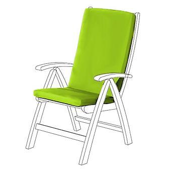 Gardenista® cojín de asiento HIGHBACK resistente al agua de cal para silla de jardín, paquete de 8