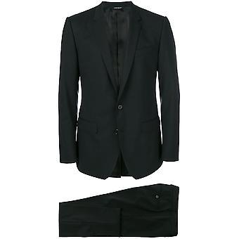 Dolce E Gabbana Black Cotton Suit