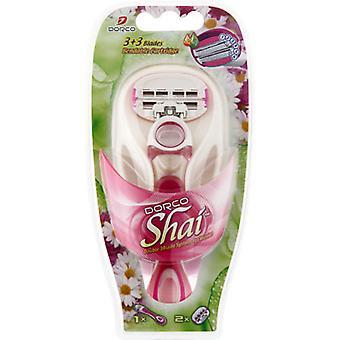 DORCO Shai SoftTouch 6-Six Blade Razor sistema de barbear para mulheres