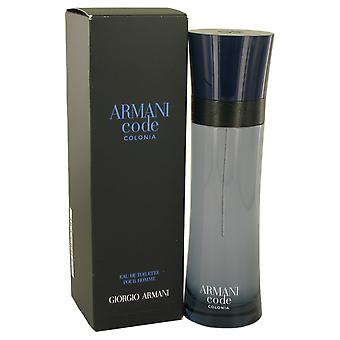 Armani Code Colonia by Giorgio Armani Eau De Toilette Spray 4.3 oz / 127 ml (Men)