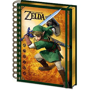 The Legend of Zelda Link 3D Lenticular A5 Wiro Notebook