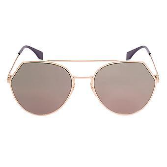 Fendi FF0194/S DDBAP Sunglasses   Gold Tone Frame   Red Lens