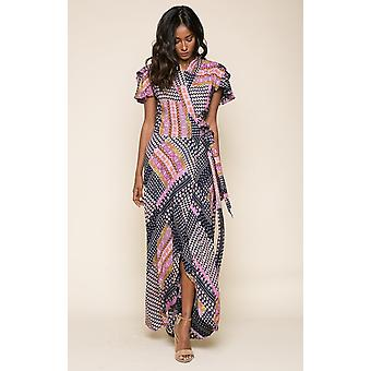 Gigi wrap maxi dress