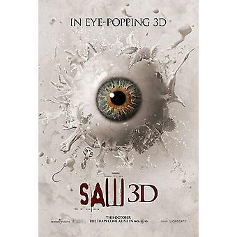 Saw 3D juliste kaksipuolinen Advance (Style C) (2010) alkuperäinen elokuva juliste