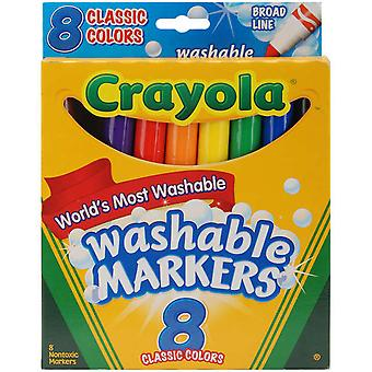 Crayola Broad Line Washable Markers Classic Colors 8 Pkg 58 7808