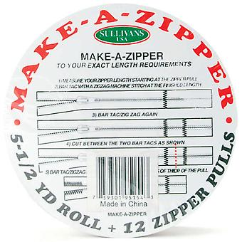Make A Zipper Kit 5 1 2 Yards White 951 49