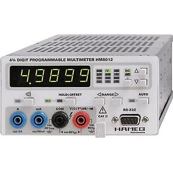 Bench multimeter digital Rohde & Schwarz HM8012 Calibrated to: Manufacturer standards CAT II 600 V Display (counts): 50