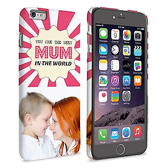 Caseflex iPhone 6 and 6s Plus Best Mum in the World' Personalised Hard Case – Pink