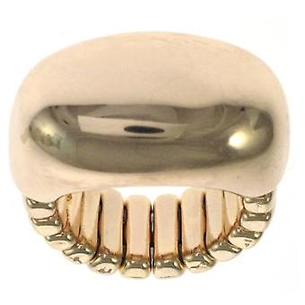 Shiny Gold Rectangle Stretchable Ring