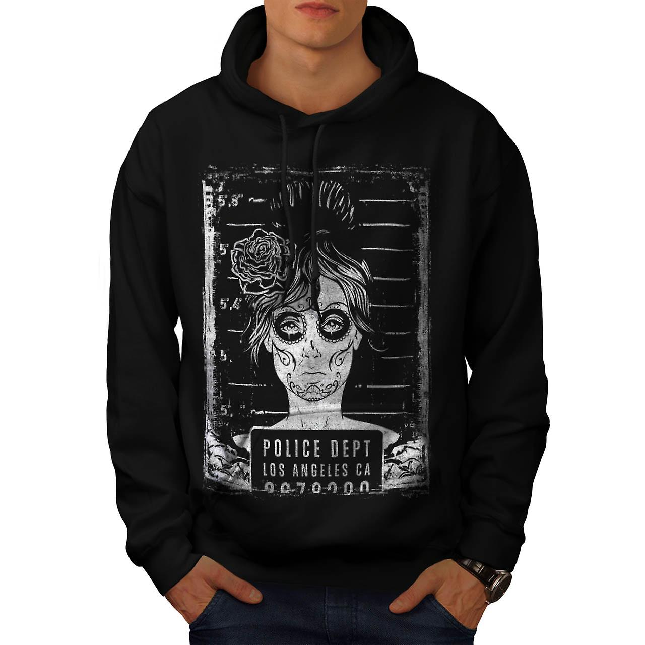 Police Department FBI LA Girls Men Black Hoodie | Wellcoda