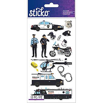 Sticko Stickers-Police Officer Cars E5201280