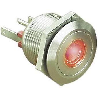 Tamper-proof pushbutton 24 Vdc 0.05 A 1 x Off/(On) ESKA Bulgin MPI001/28/RD IP66 momentary 1 pc(s)