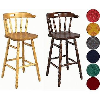 Hampton træ Bar Stool - polstret/Unpadded
