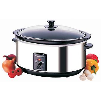 Morphy Richards 48715 rostfritt stål Oval Slow Cooker