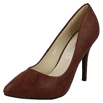 Ladies Spot On High Heel Pointed Toe Court Shoes F9665