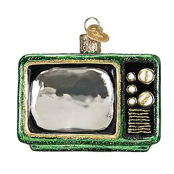 Retro Look Tube TV Christmas Holiday Ornament Glass 2.5 Inches