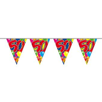 Pennant chain 10 m number 50 years birthday decoration party Garland