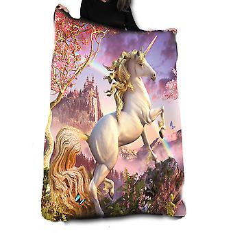 AWESOME UNICORN Fleece Blanket / Throw / Tapestry