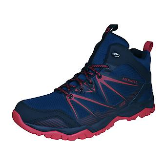Merrell Capra Rise Mid Mens Hiking Boots - Navy Blue