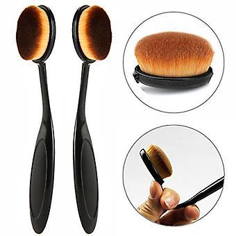2 x Boolavard maquillaje polvo de la cara/Rouge cepillo curva cepillo básico
