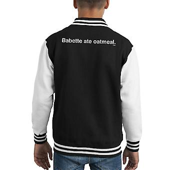 Babette Ate Haferflocken Gilmore Girls Kid Varsity Jacket
