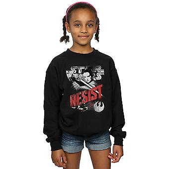 Star Wars Girls The Last Jedi Rey Resist Sweatshirt
